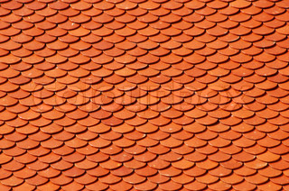 tile roof of temple