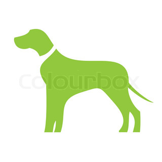 Dog icon in green