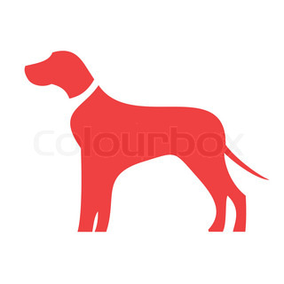 Dog icon in red