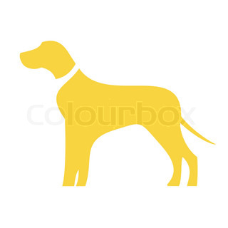 Dog icon in yellow