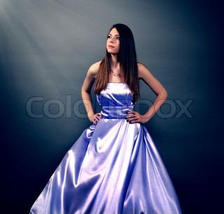 Girl in violet dress