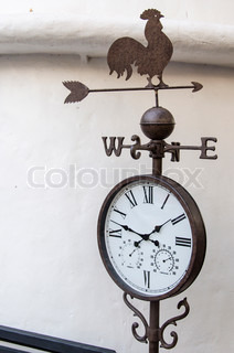 vintage clock with Compass