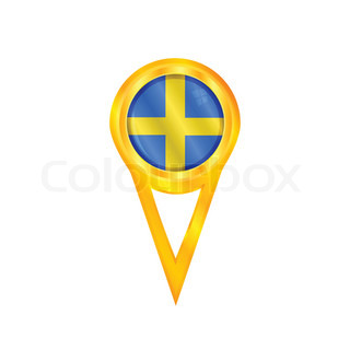 Sweden pin flag