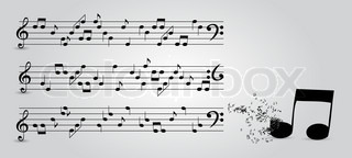 musical notes abstract backgroundIllustration