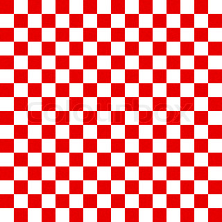 Abstract red and white checkered background