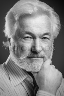 Portrait of old man with beard