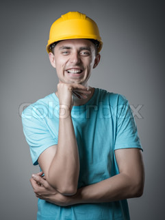 worker in helmet