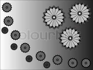 Background with abstract flowers - vector