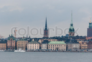 Stockholm view of the old city