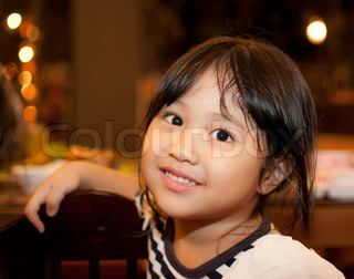 portrait of asian little girl