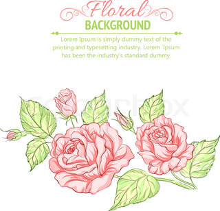 Silhouette of rose with sample text