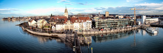 Detail of Friedrichshafen, a small town in Southern Germany