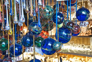 Christmas Balls in Friedrichshafen, a small town in Southern Germany