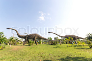 public parks of statues and dinosaur