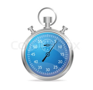 Blue stopwatch vector illustraion