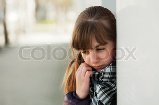 Teenage girl in depression