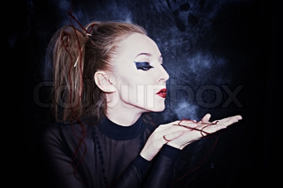Woman With Gothic Style Makeup