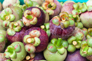 Fresh organic mangosteen Thai fruit.