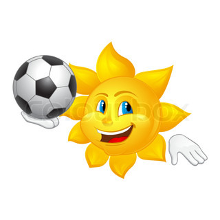 sun is playing football