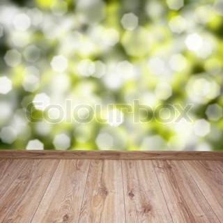 wooden planks with green background