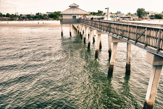 Pier in fort myers florida stock photo colourbox for Fort myers fishing pier