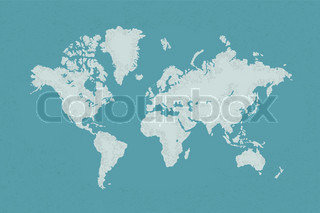 World map with a colorful blue background , eps10 vector format