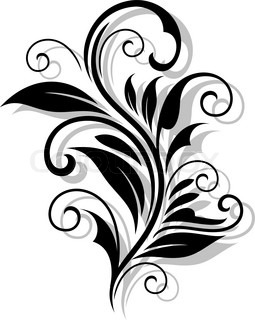 Simple black and white swirling floral element with a repeat beautiful floral pattern thecheapjerseys Choice Image