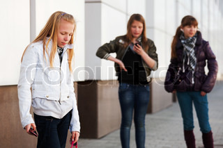 Teenage girl with a mobile phone