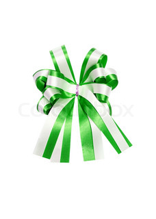 isolated green ribbon
