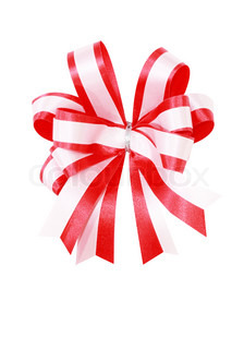 red ribbon in white background