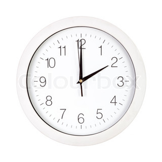 Clock face showing two o'clock