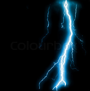 Isolated Realistic Lightnings With Transparency Abstract Blue Lightning Flash Background Vector