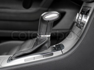 automatic gear shift in car