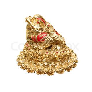 chinesische feng shui frosch mit m nzen symbol von geld und reichtum stock foto colourbox. Black Bedroom Furniture Sets. Home Design Ideas
