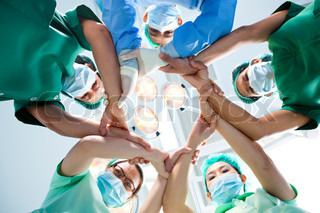 Image of 'hospital, coworkers, group'