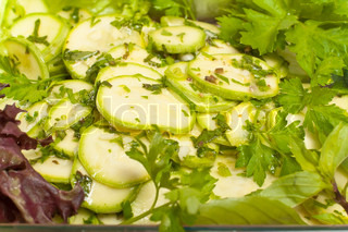 salad of courgettes