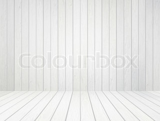 leere tafel auf der holzwand stock foto colourbox. Black Bedroom Furniture Sets. Home Design Ideas