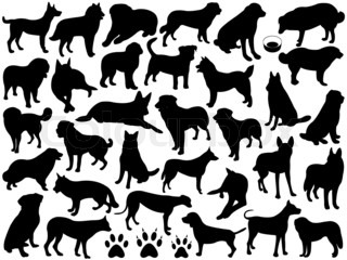 Dogs Silhouette Collage