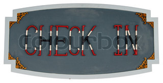 Symbol of check in isolated on white background