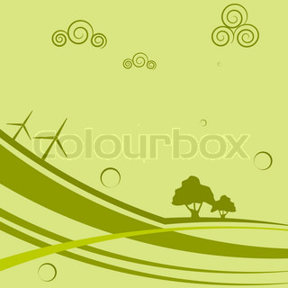 Abstract background with wind generators