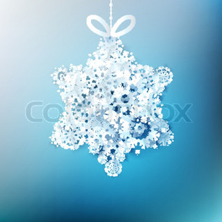 Christmas star made from snowflakes EPS 10