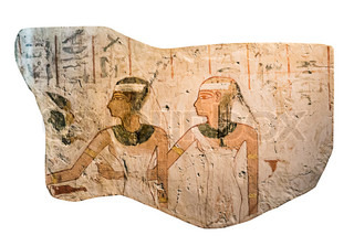 Egyptian stone with drawings