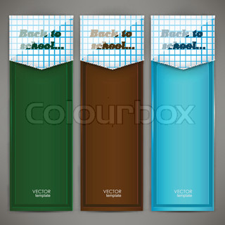 Set of colorful banners, arrows, bookmarks