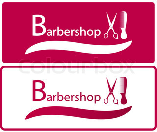 Barber Industry : Set two background for barbershop industry Vector Colourbox