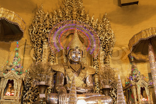 buddha statue,made from gold in