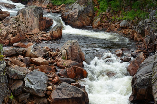 Fantastic river in Kaperdalen on the island of Senja