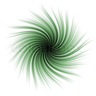 Green abstract swirl.