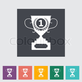 Cup single flat icon