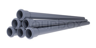 Grey PVC sewer pipes