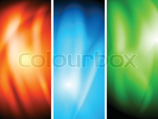 Colourful wavy banners